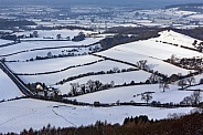 Snow covered Yorkshire countryside