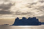 Iceberg floating in Scoresbysund - Greenland