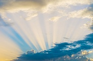 Sky with Sunbeams