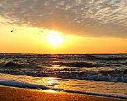 Sunrise and the Corpus Christi Bay