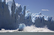 Ice calving from the terminus of the Perito Moreno Glacier - Argentina