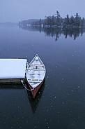 Canoe in the early Winter
