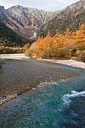 Japanese Alps with autumn colours