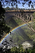 Bridge over Zambezi River at Victoria Falls