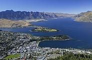 Queenstown Bay on Lake Wakatipu - New Zealand