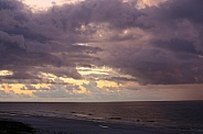 Evening Sun setting over the Gulf Shores