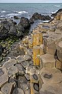 Hexagonal basalt rock formations - Giants Causeway