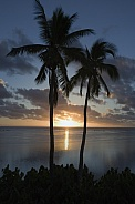 Sunset over Aitutaki Lagoon - Cook Islands - South Pacific