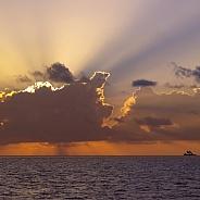 Dramatic sky - The Maldives