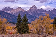 View of Teton Mountain Range