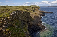 Basalt cliffs - Staffa - Scotland