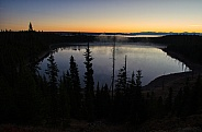 Sunrise at Yellowstone Lake