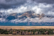 Teton Range during Storms
