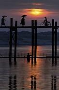 U Bein Bridge at sunset - Myanmar