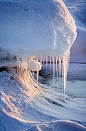 Icicles on Sea Ice - Greenland