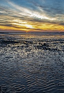 Sunset at low tide - Chatelaillon Plage - France