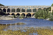 Gardon River and Pont du Gard - France