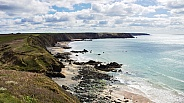 Marloes Sands - Coast Path View