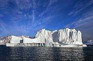 Large iceberg floating in Scoresbysund - Greenland