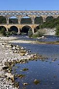 Pont du Gard and Gardon River - France