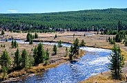 Gibbon River in Yellowstone