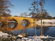 Winter scene - River Derwent - North Yorkshire