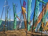 Buddhist prayer flags - Himalayas - Bhutan