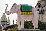 Pink elephant statue - Sonagiri - India