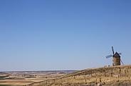 Windmill and empty landscape - La Mancha - Spain