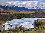 Waterfall in Torres del Paine National Park - Chile