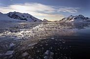 Melting sea ice - Petzval Bay - Antarctica