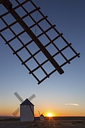 Sunset and Windmills - La Mancha - Spain