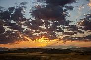 Desert sunrise - Namib Desert in Namibia