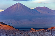 Mount Licancabur Volcano at dusk
