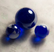 Three Blue Marbles