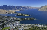 Queenstown Bay on Lake Wakatipu - New Zealand