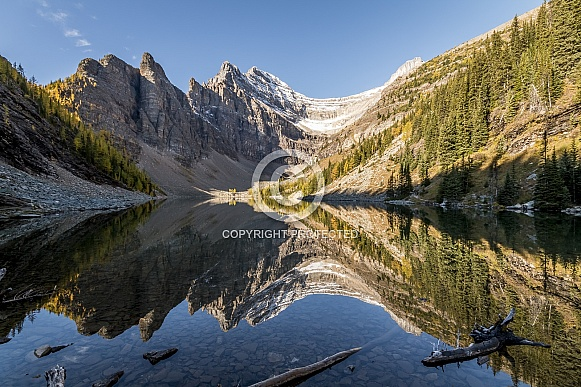 Giant mirror at Lake Agnes Canada