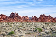 Red rock formations at Valley of Fire state park