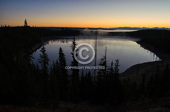 Sunrise at Yellowstone Lake