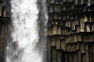 Basalt columns at Svartifoss Waterfall - Iceland