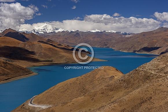 Yamdrok Lake - Tibetan Plateau - Tibet