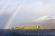 Rainbow over Loch Assynt - Scotland