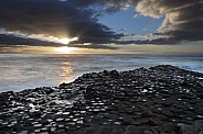 Dusk at the Giants Causeway - Northern Ireland