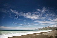 Blue sky, blue sea, sandy beach