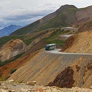 Bus in a Alaskan landscape