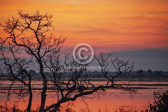 Sunset over the Chobe River - Botswana