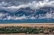 Teton Range during Storm