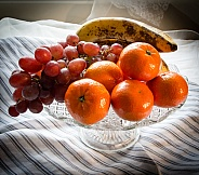 Fruit on Glass Plate