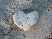 Heart-shaped rock