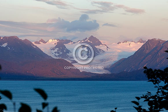 Evening view on the Alaskan mountains